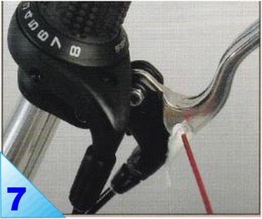 Pour garantir un bon coulissement des têtes des câbles de frein dans les leviers, huilez leur logement ainsi que les axes des leviers.