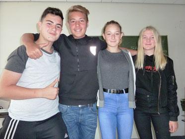 Team Schuljahr 2017/18: Ugurcan, Moritz, Lorena und Anna-Lena