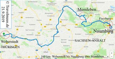 21.9.2019 - 160 km Weberstedt - Namburg über Freyburg