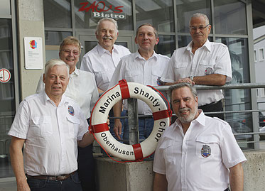 v.l.: Wolfgang Krause-Lindt, Brigitte Hegmanns, Paul Velling, Harry Szymiczek, Uwe Meier und Manfred Krüger
