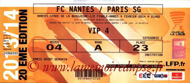Ticket  Nantes-PSG  2013-14