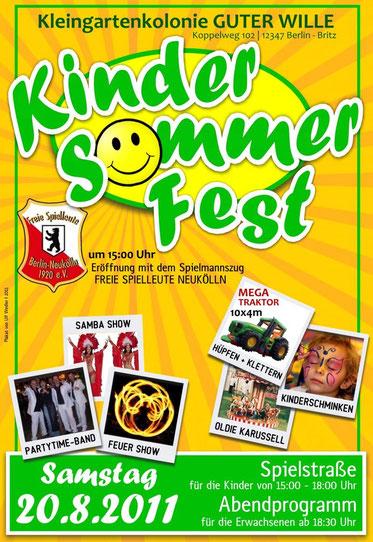 Das Sommerfestplakat 2011