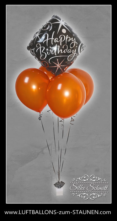 Folienballon Ballon  Bubble Bouquet  bunt elegant  exlusiv  Geburtstag Geschenk  Happy Birthday  Luftballon
