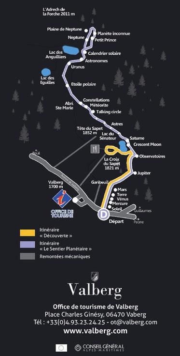 Carte du sentier Planétaire