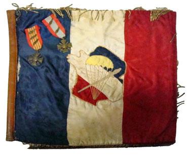 Fanion du Bataillon de Choc, collection nationale.
