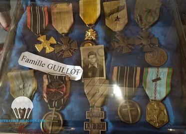 Médailles décernées par le gouvernement du général de Gaulle à titre posthume à Henri GUILLOT