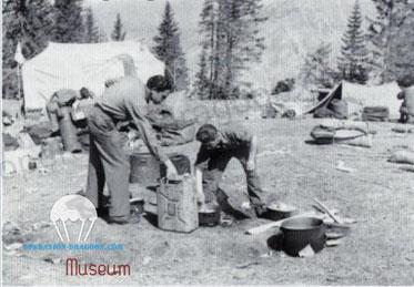 Camp de toiles de tentes du Turini. 1944.