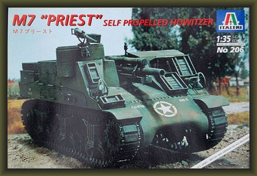 M7 'Priest' Self Propelled Howitzer, Italeri No. 206