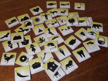 """Bildkarten des Spiels """"Silhouette"""""""