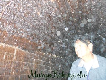 五島列島 奈留島の窯。(薪窯) 内部に入らせてもらいました。