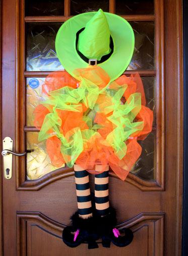 Sorcière Halloween porte d'entrée