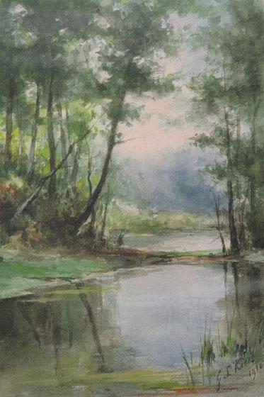 te_koop_aangeboden_een_aquarel_op_papier_van_de_nederlandse_kunstschilder_george_laurens_kiers_1838-1916