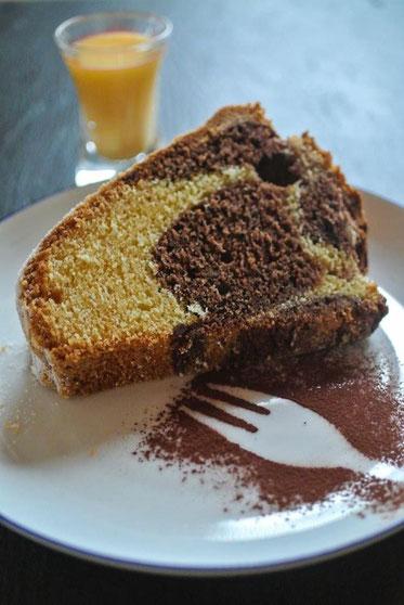 Marmorkuchen oder Eierlikörkuchen