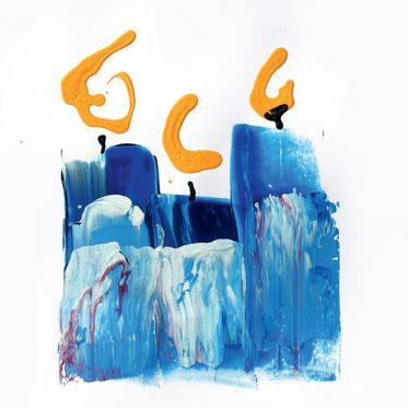 Online Kartenverlag für moderne Weihnachtskarten (Blue candles für Stiftung Sternschnuppe)
