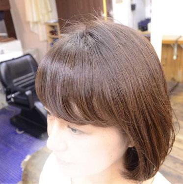 前髪パーマ 画像