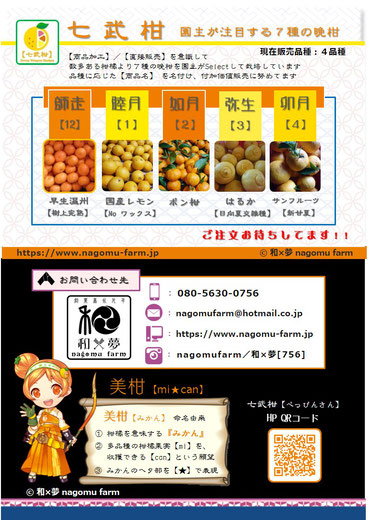 和×夢 nagomu farm 七部柑 2017 パンフ表面