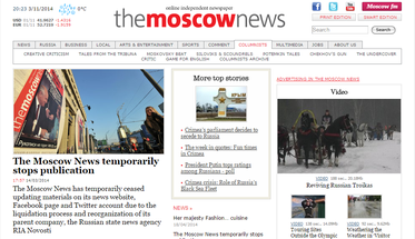 The Moscow News - papers in English for Moscow