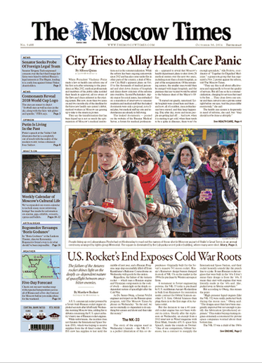 The Moscow Times - papers in English for Moscow
