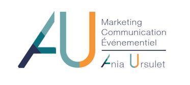 Logo Ania Ursulet stratège marketing, communication et événementiel