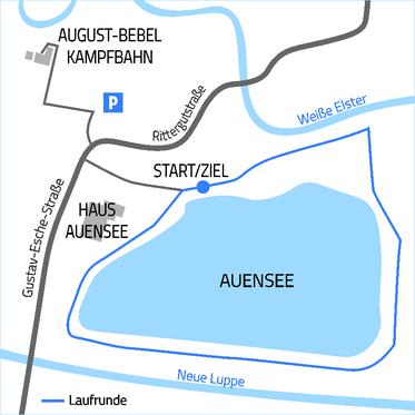10km: 6 Runden um den Auensee