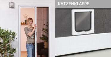 Plisseetüren und ein Bild zur Katzenklappe | Alle Türen auch mit Katzenklappe