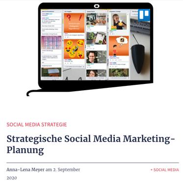 Gastblogbeitrag strategische Social Media Marketing Planung