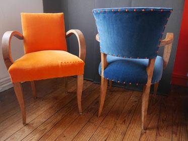 rénovation fauteuils bridge art deco bordeaux