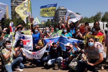 Repræsentanter fra Unidad Social's bevægelser