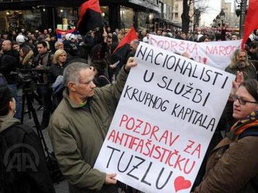 Antifascistisk Solidaritet i Beograd med oprøret