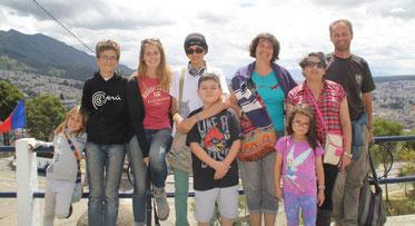 Quito avec Hugo, Lucia, Daniel et Anahis