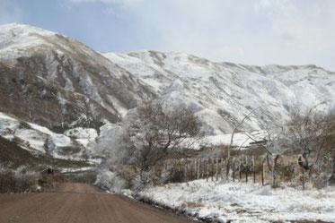 Col Piedra del Molino sous la neige