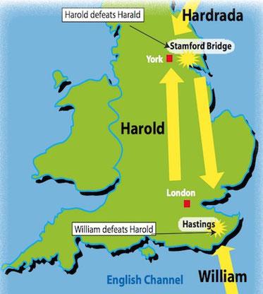 Map Of England Hastings.The Battle Of Hastings Teacher Letang