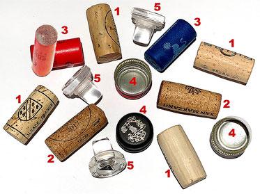 Die Korkentypen beim Wein