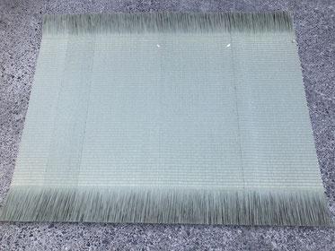 製織体験で織った畳表