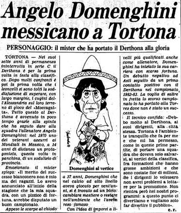 1984-85 ALESSANDRIA - DERTHONA 1-3 DOMENGHINI