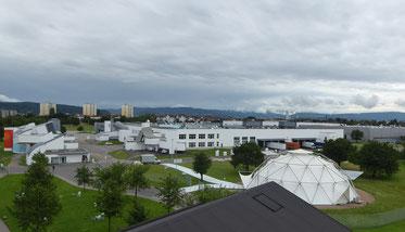 Blick auf den Campus des Vitra Design Museums