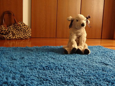 IKEAで買ったカーペット敷きました。ルンバがほしい。