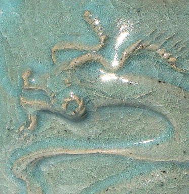 Dragon céladon, détail de théière