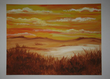 """Abendrot in der Steppe"""