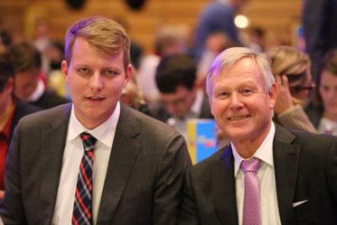 Die Spitzenkandidaten der FDP Münsterland (v.l.): Henning Höne (Coesfeld) und Karlheinz Busen (Gronau).