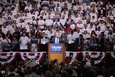 Donald Trump bei einem Wahlkampfauftritt. | Bild: Wikimedia Commons/Gage Skidmore