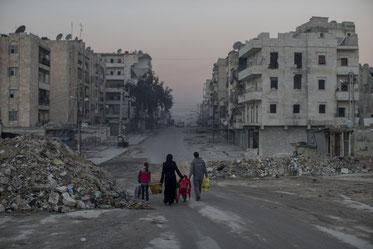 Geisterstadt in Syrien. | Bild: Keystone