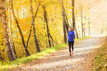 Herbstimpressionen: Laufen im Herbst