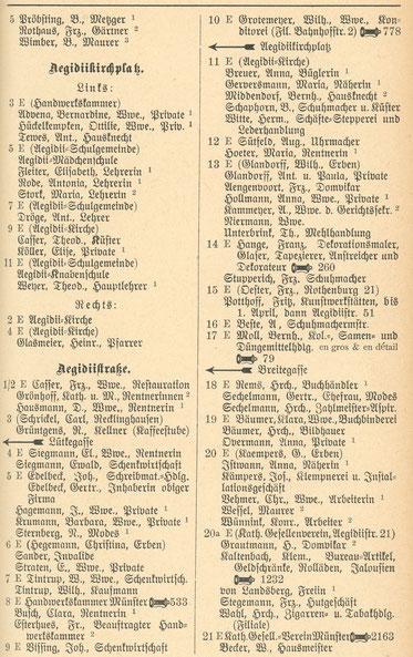 Auszug Einwohnerbich 1909