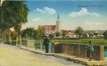 Historische Ansicht der Kanalbrücke an der Nürnberger Straße (Sammlung Karl Inderst)