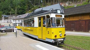Kirnitzschtalbahn/Straßenbahn: Bad Schandau bis zum Lichtenhainer Wasserfall