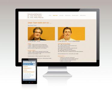 Website-/Template-Anpassung Gemeinschaftspraxis Dr. Maier - Dr. Weerda