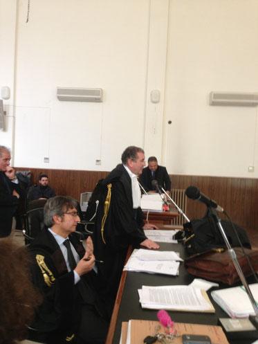 Al banco della Difesa gli avvocati La Via e Timpanaro
