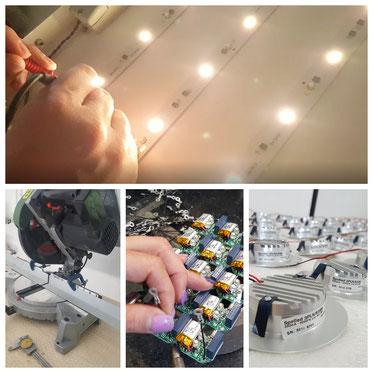 lavorazione prodotti illuminazione a led Nauled