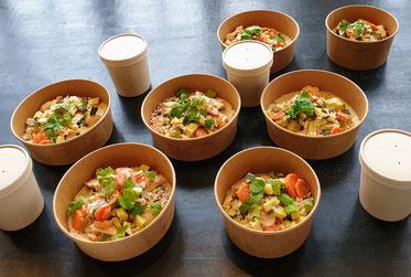 blanquette de veau français, légumes et riz